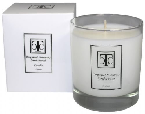 Bergamot Rosemary & Sandalwood Scented Candle 40 hour